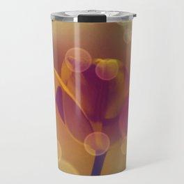 Golden Bubbles N Tulip Travel Mug