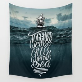 One With The Sea Wall Tapestry