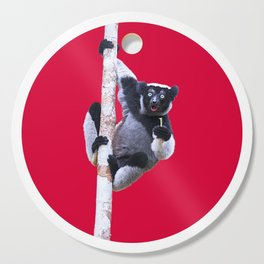 Indri indri sitting in the tree Cutting Board