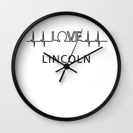 Lincoln heartbeat. I love my favorite city. Wall Clock