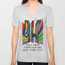 Ball Drop Times Square Unisex V-Neck