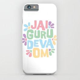 Jai Guru Deva Om (Soft) iPhone Case