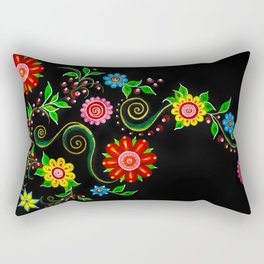 Ukrainian Flowers Rectangular Pillow