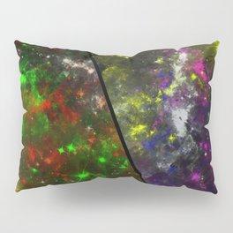 Parallel Universe - Split 'space' artwork showing 2 opposing galaxies Pillow Sham