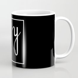 """ Mirror Collection "" - Minimal Letter H Print Coffee Mug"