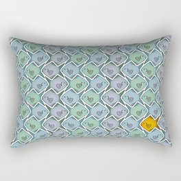 Looking for the gold fish Rectangular Pillow