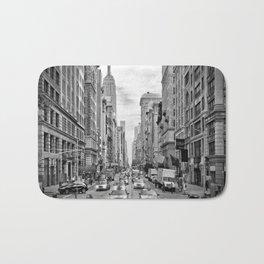NEW YORK CITY 5th Avenue Traffic   Monochrome Bath Mat