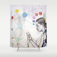 destiny Shower Curtains featuring Destiny by Heaven7
