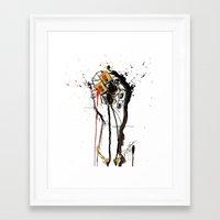 ysl Framed Art Prints featuring YSL by Sasha Spring Illustration