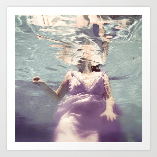 Dive in Violet Art Print