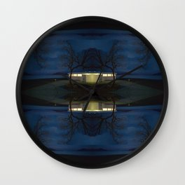 Reluctance At The Edge Of the Salt Flats Wall Clock