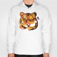 tigers Hoodies featuring 2 Tigers by LitjiT