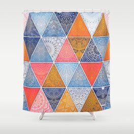 Pattern Mandala Losange Shower Curtain