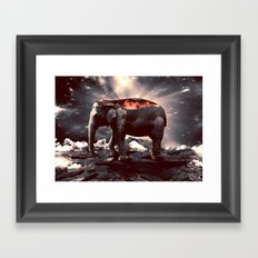 elefount / luminescent series Framed Art Print