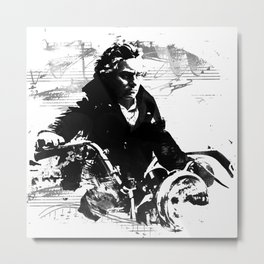 Beethoven Motorcycle Metal Print