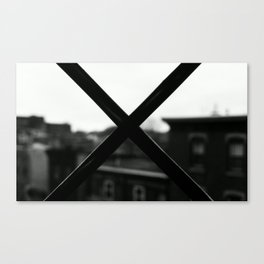 X MARX THE SPOT. Canvas Print