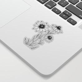 Wildflowers Ink Drawing | Dusty Pink Sticker
