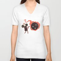 katamari V-neck T-shirts featuring Katamari of the Dead by Hector Mansilla