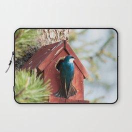 Blue Swallow Photography Print Laptop Sleeve