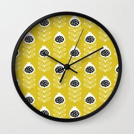 Musterd fig flower blossom summer pattern Wall Clock