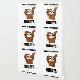 Funny, Lazy But Cute Tshirt Design Fridays Sloth Wallpaper