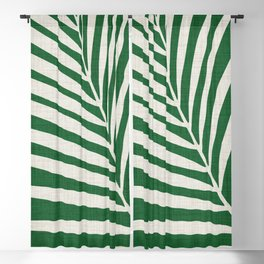 Minimalist Palm Leaf Blackout Curtain
