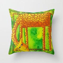 Patterned Giraffe Throw Pillow