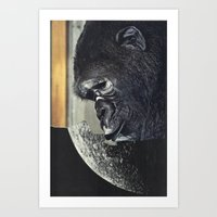 gorilla Art Prints featuring gorilla by Hugo Barros
