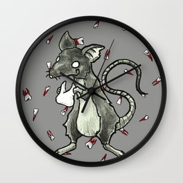 Dirty Rat bloody Teeth Wall Clock