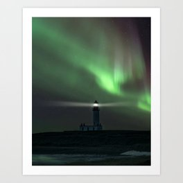 When the northern light appears Art Print