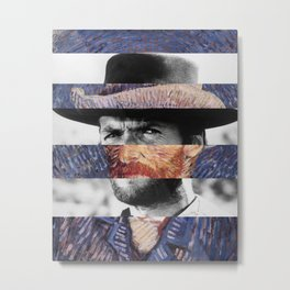 Van Gogh's Self Portrait & Clint Eastwood Metal Print