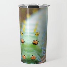 Green and Orange Cercropia Caterpillar Travel Mug