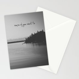 Roam If You Want To Stationery Cards