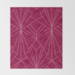 Art Deco in Raspberry Pink - Large Scale Throw Blanket