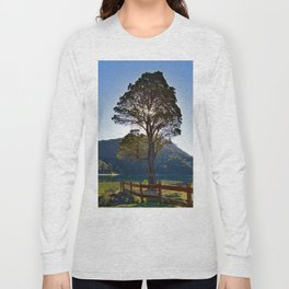 The Big Tree at Patagonian Lake Long Sleeve T-shirt