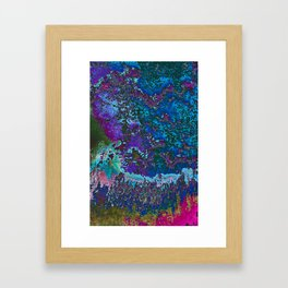 Ditigitize Blue Framed Art Print
