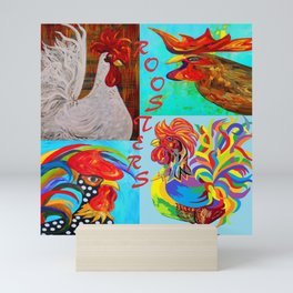Rooster Menagerie Mini Art Print