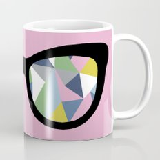 Abstract Eyes on Pink Coffee Mug