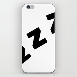 Zzzs in Black iPhone Skin