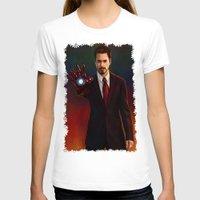 tony stark T-shirts featuring Art Of Tony Stark Iron Man by Andrian Kembara