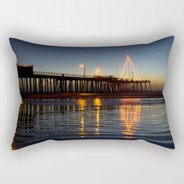 Christmas by the Sea Rectangular Pillow