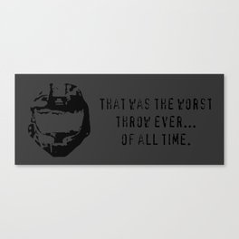 Worst Throw Ever.  Of All Time.  -  Red vs. Blue Wash Canvas Print