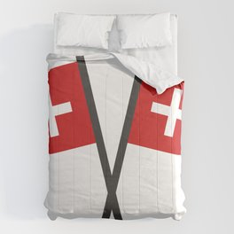 Swiss flag Comforters