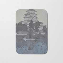 1926 Hiroshi Yoshida Japanese Woodblock Print Himeji Castle Evening Bath Mat