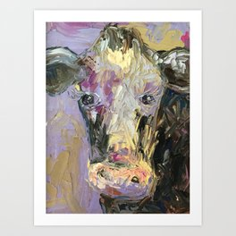 Colorful Cow Art Print