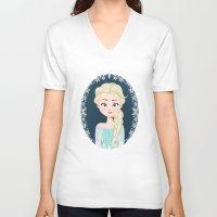 elsa V-neck T-shirts featuring Elsa by Joey Ellson