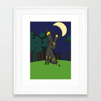 umbreon Framed Art Prints featuring Umbreon by Bearpark