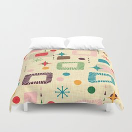 Atomic pattern Duvet Cover