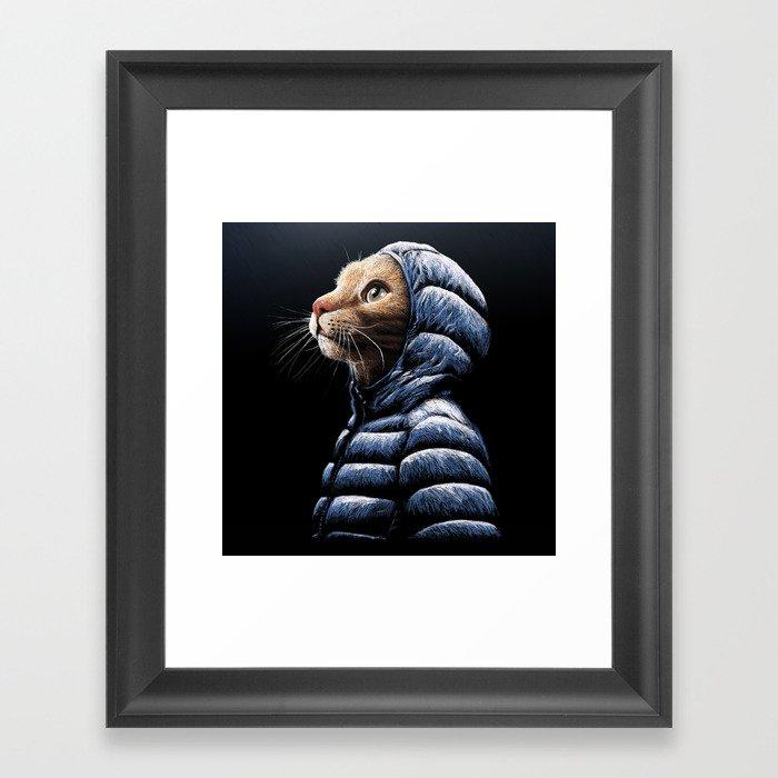 COOL CAT Gerahmter Kunstdruck