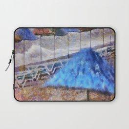 Beach Umbrellas In Impressionist Style Laptop Sleeve